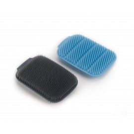 LOT DE 2 EPONGES SILICONE BLEU