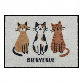 Tapis de patio LEMIYO Bienvenue chats