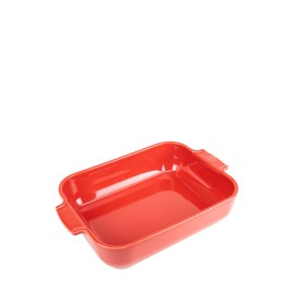 PLAT FOUR RECTANGLE 32cm Rouge