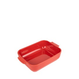 PLAT FOUR RECTANGLE 25cm Rouge