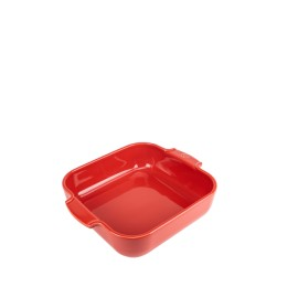 PLAT FOUR CARRÉ 28cm Rouge