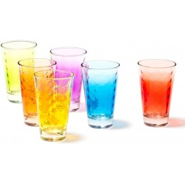 COFFRET 6 VERRES LONG DRINK ASSORTIS