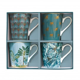 COFFRET 4 MUGS JUNGLE MANIA