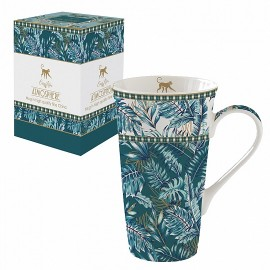 COFFRET 1 MUG 60CL EN PORCELAINE ATMOSPHERE JUNGLE