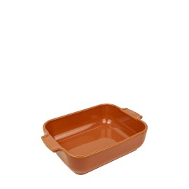 PLAT FOUR RECTANGLE 32cm TERRACOTTA